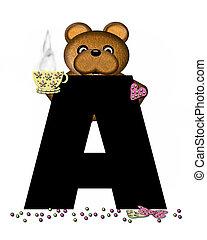 Alphabet Teddy Tea Time A