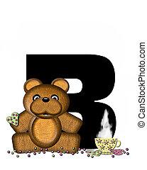 Alphabet Teddy Tea Time B