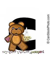 Alphabet Teddy Tea Time C