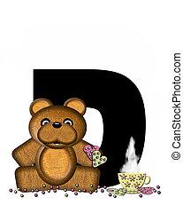 Alphabet Teddy Tea Time D