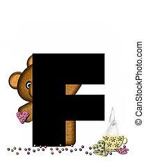 Alphabet Teddy Tea Time F