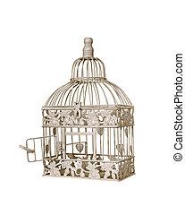 birdcage - open door on vintage birdcage