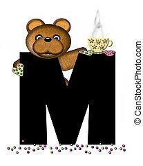 Alphabet Teddy Tea Time M