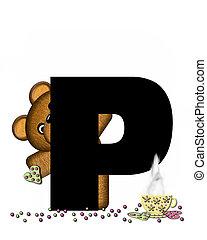 Alphabet Teddy Tea Time P