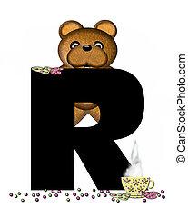Alphabet Teddy Tea Time R