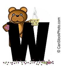 Alphabet Teddy Tea Time W