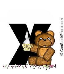 Alphabet Teddy Tea Time X