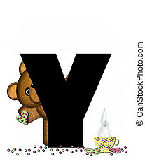 Alphabet Teddy Tea Time Y