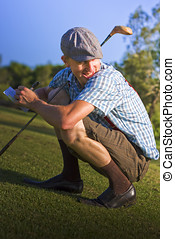 Cheating To Win - Peering Over His Shoulder On A Golf Course...