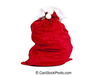 santa claus sack isolated on white
