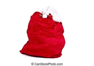 santa claus sack isolated on white