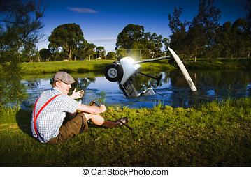 Golf Problem - Distressed And Unhappy Golfer With Bad...