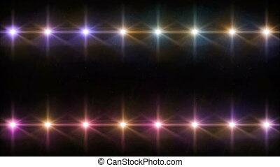 double Stars lens flares pattern color hd - abstract image...