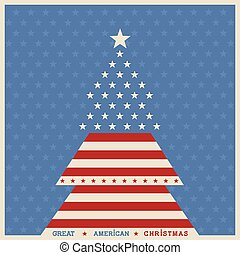 American christmas tree poster background