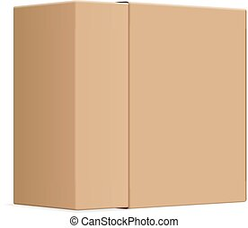 Blank paper box on a white background