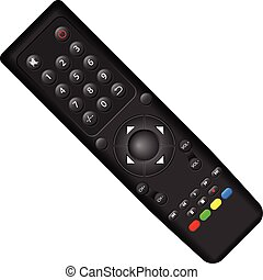 Remote control on a white background Vector illustration