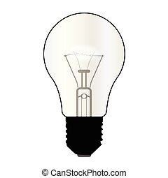 Isolated Light Bulb - A typical standard light bulb over a...