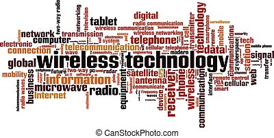 Wireless technology Convertedeps - Wireless technology word...