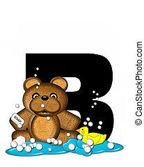 Alphabet Teddy Bath Time B - The letter B, in the alphabet...