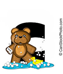 Alphabet Teddy Bath Time C - The letter C, in the alphabet...