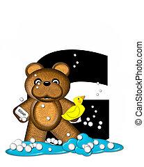 Alphabet Teddy Bath Time G - The letter G, in the alphabet...