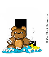 Alphabet Teddy Bath Time L - The letter L, in the alphabet...