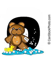 Alphabet Teddy Bath Time O - The letter O, in the alphabet...