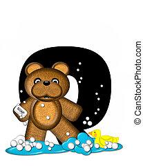 Alphabet Teddy Bath Time Q - The letter Q, in the alphabet...