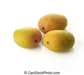 Three Alphonso Mangoes - High resolution image of three...