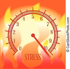 Fire Background Stress Meter - An abstract fire type effect...