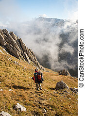 mountain landscapes of the Caucasia - Tourist trip in the...