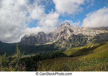 mountain landscapes of the Caucasia - Majestic mountain...