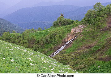 mountain landscapes of the Caucasia - Stunning beauty of the...
