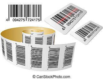 Barcode - Scanning a Bar code with roll isolated on the...
