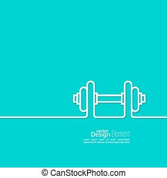 Dumbbells lying on floor - Dumbbells icon. sport and muscle...