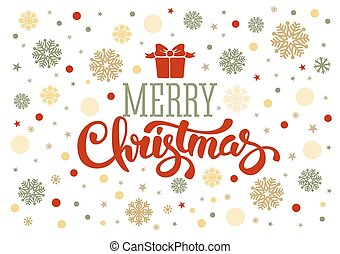 Christmas greetings - Merry christmas greetings. Vintage...