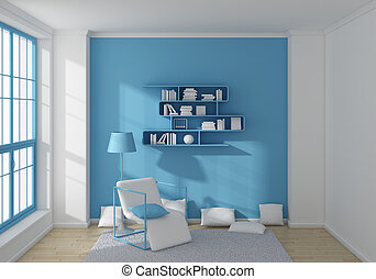 3d rendered interior. - Modern 3d rendered interior with a...