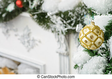 x-mas decoration - Beautiful decoration of the room for...