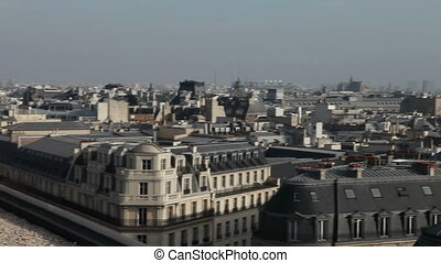 Paris aerial View on roofs - Paris aerial View on roofs in a...