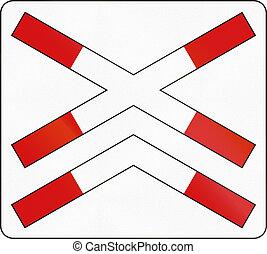 Slovenian road warning sign - Crossbuck for multi-track...