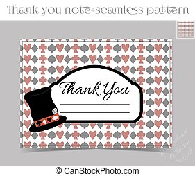 Tank you note - Hatter Hat from Wonderland - Thank you Note...