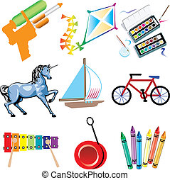 Toy Icons - Vector Illustration of Toy Icons Isolated