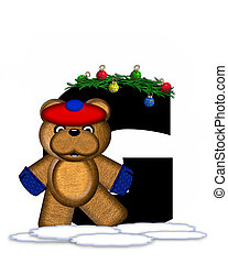 Alphabet Teddy Christmas Boughs G - The letter G, in the...