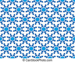 winter pattern with stylized snowflakes - abstract...