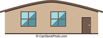 Single-storey house isolated.eps