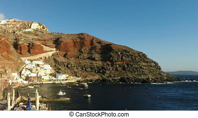 santorini island in autumn