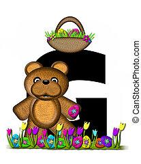 Alphabet Teddy Easter Egg Hunt G - The letter G, in the...