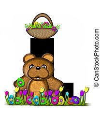 teddy, alfabeto, caccia,  L, pasqua, uovo