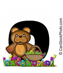teddy, alfabeto, caccia,  o, pasqua, uovo