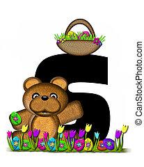 Alphabet Teddy Easter Egg Hunt S - The letter S, in the...